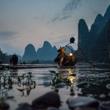 Traditioneller Fischer in Südchina / Traditional fisherman in South China